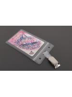 Card case portrait (68x115mm) with clip