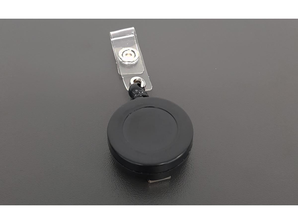 Plastic badge reel black