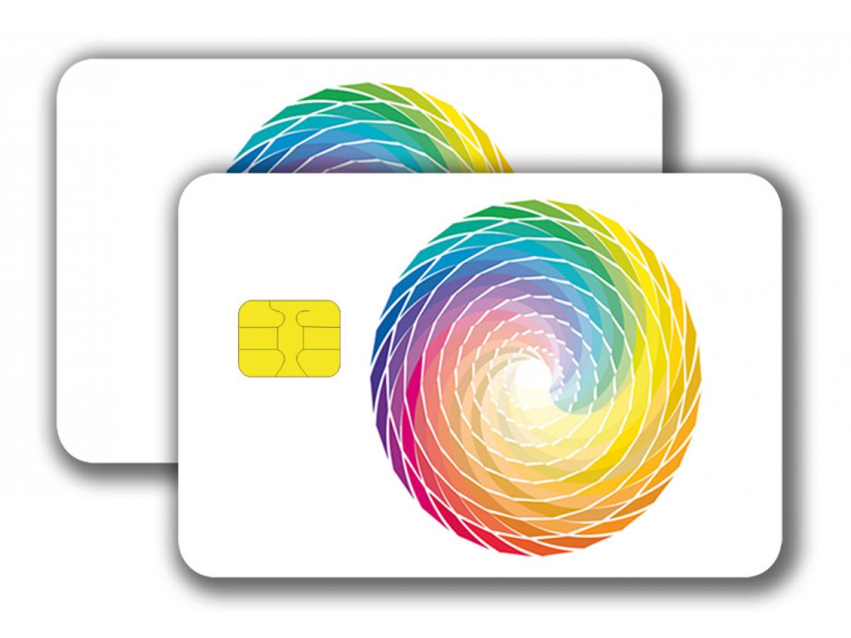 Chipcard SLE5542 -  4/4 colored