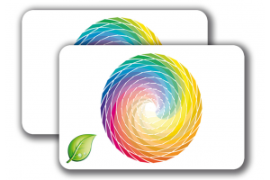 ECO PVC Cards -  4/4 colored