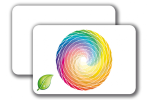 ECO PVC Cards -  4/0 colored